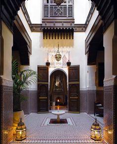 Moroccan riad patio