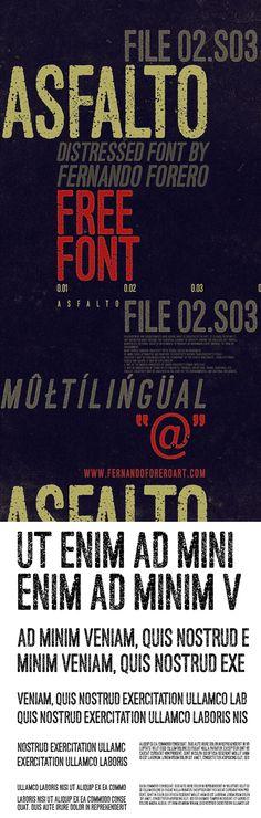 Asfalto - Free Font
