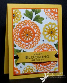 Use Blendabilities to color dry embossed card stock!