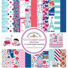 Doodlebug Design French Kiss 12x12 Paper Pack #ScrapbookingSimple