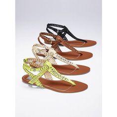 Victoria's Secret Irinia Flat Sandal ($110) ❤ liked on Polyvore