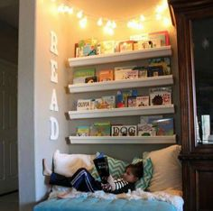 Un joli coin de lecture bien douillet