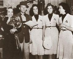 Carmen Miranda, Bing Crosby, and The Andrews Sisters