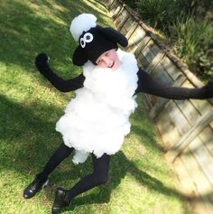 Shaun the sheep // kids costume// book week via @deebriggos Instagram and @itsashley1764 as Shaun the sheep