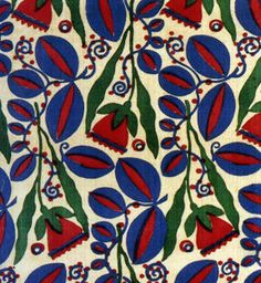 Enid Marx. Bold colour and pattern. #blue #red #green