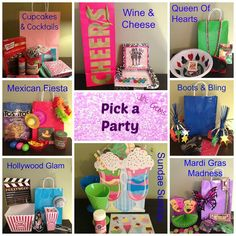 Pick a Party and Grab a Bag! #themeparty #liasophia