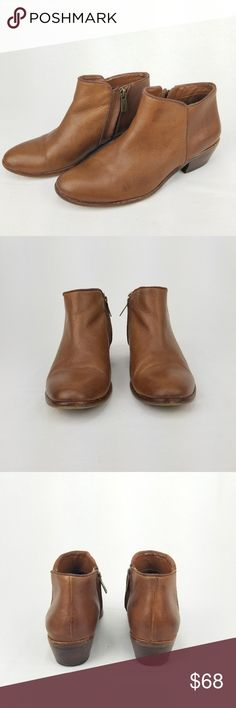 db5bf060318bb6 Sam Edelman Petty Ankle Bootie 7.5 Saddle Leather Supple uppers and a  classic look make the