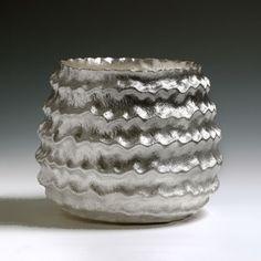 """Seni Vase"" by Hiroshi Suzuki , 2013. Hammer-raised and chased Fine silver 999."