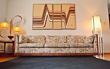 Milo Baughman Mid Century Rosewood Case Sofa/Couch - 8ft long!
