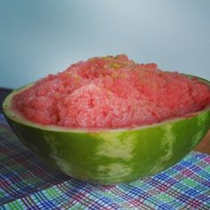 3-ingredient Watermelon Granita. The perfect easy summer treat for a hot day!