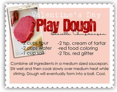Valentines Celebrations... glitter playdough