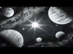 Black and White Galaxy SPRAY PAINT ART