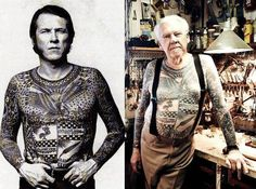 Lyle Tuttle. I bet u they asked, what r u gonna do when ur old and have all those tats? Be old dymbass's!