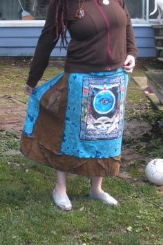 Grateful Dead  Crazy Stitching Madness T Skirt by gr8fuldreadgrrl, $60.00