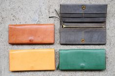 Hand+Stitched+Dark+Green+Leather+Long+Wallet+by+ArtemisLeatherware,+$125.00