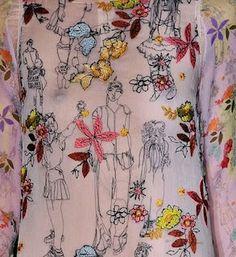 Claire Coles for Missoni Textile Fiber Art, Textile Artists, Free Motion Embroidery, Machine Embroidery, Textile Patterns, Textile Design, Creative Textiles, Art Pages, Art Lessons
