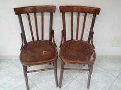 Vecchie sedie di legno pitturate di grigio | Retroscena | Pinterest