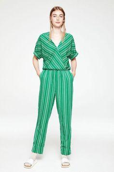 41795e9511fe10 aarabella pair of stripes jumpsuit garden green by Armedangels