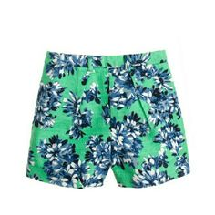 High Waisted Floral J.Crew Shorts In a pretty floral, this lightweight tap short feels just right for summer. Its high-waisted feminine silhouette is finished with front pleats and a back zip for a spot-on fit.  -Cotton with a hint of stretch. -Back zip. J. Crew Shorts