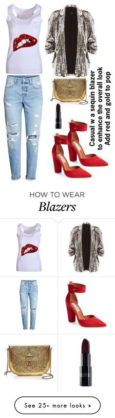 """""""NYE Casual Chic"""" by meekmonroee on Polyvore featuring H&M, WithChic, Steve Madden, River Island and From St Xavier"""