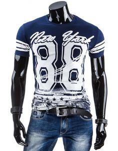 Męski T-shirt z nadrukiem (rx1506) - Dstreet.pl