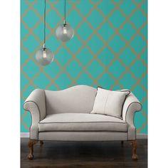 Temporary Wallpaper- Jade Marrakesh - Apartment Faves - Living