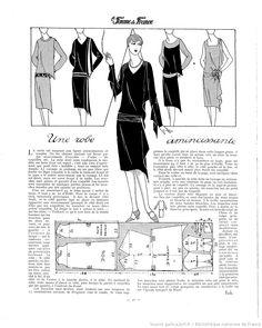 free vintage sewing pattern / Robe (La Femme de France 23/10/1927)