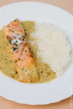 Curry Salmon | Saumon sauce curry                                                                                                                                                      Plus