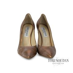 S H I R L E Y (copper): Proof that dreams do come true; an exquisite, luxury, Italian-made, #ToriSoudan #shoe.  Shop now at ToriSoudan.com