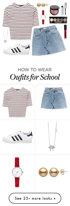 """""""Untitled #323"""" by r00t on Polyvore featuring adidas, Skagen, Bobbi Brown Cosmetics and Lipstick Queen"""