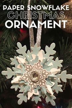 Make a festive Snowflake Keepsake Ornament for your Christmas tree this year. An easy DIY craft tutorial idea that also makes a great Christmas gift! #thecraftyblogstalker #christmas #christmasornaments #handmadechristmas #snowflake #handmadeornaments Diy Christmas Snowflakes, Paper Snowflakes, Christmas Ornaments To Make, Snowflake Ornaments, Handmade Ornaments, Great Christmas Gifts, Handmade Christmas, Christmas Crafts, Christmas Tree