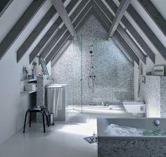 Salle de bains sous les toits Geberit via Nat et nature