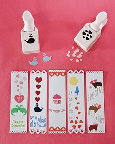 Valentines day book marks!