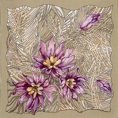 картины из шелковых павлопосадских платков