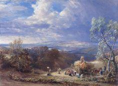 "Samuel Palmer  ""Harvesting"""