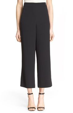 Free shipping and returns on Rebecca Taylor Wide Leg Pants at Nordstrom.com. A bit of silk enhances the smooth look and feel of stretch-woven pants cut with a cropped, wide-leg silhouette for a look that exudes refined, office-ready polish.