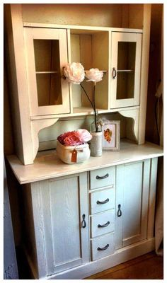 Pimped by Olivia's Brocante www. Old Furniture, Double Vanity, Cabinet, Storage, Home Decor, Clothes Stand, Purse Storage, Closet, Store