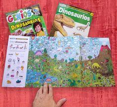 Ilustrador Alexiev Gandman: Buscando Dinosaurios - En la revista Genios 885