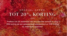 20% korting op alle woonaccessoires van De Bijenkorf! De actie geldt t/m 25 september. http://lnk.al/2LFY