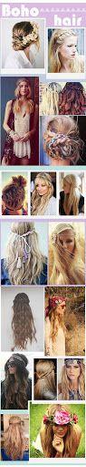 Des beaux tutos coiffures tressées pour des cheveux bohèmes, inspirés de Coachella ♥ Coachella Festival Hair Tutorials for perfect boho hair ♥