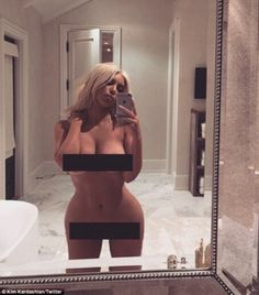 NAKED Kim Kardashian poses for nude photo 13 weeks after son Saint's birth | Daily Mail Online