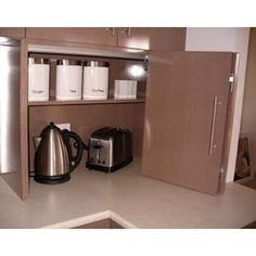 Is this where you store your #toaster ? You won't anymore with the Hinge! #kitchendecor #modernstyle  http://www.hingetoaster.com