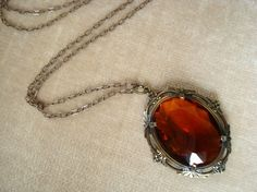 This amber glass necklace is inspired by the necklace worn by Bonnie and Emily… Black Butler, Glass Necklace, Pendant Necklace, Bonnie Bennett, Wattpad, The Adventure Zone, Katherine Pierce, Mystic Falls, Devil May Cry