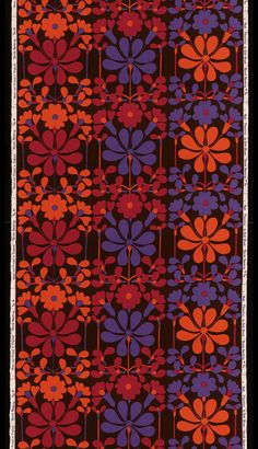 Lovely vintage fabric from the V & A: Florentina furnishing fabric by Jyoti Bhomik for Heal's 1965.