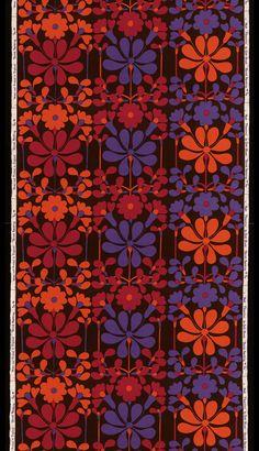 florentina furnishing fabric by Jyoti Bhomik for Heal's, 1965