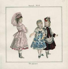 1874. Children's fashion, March, The queen