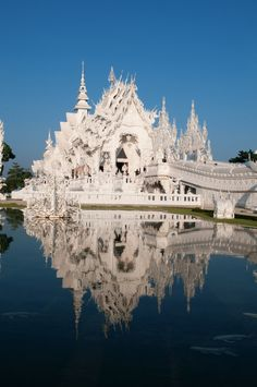 Wat Rong Khun is a contemporary unconventional Buddhist and Hindu temple in Chiang Rai, Thailand.