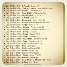 Christian CHRISTmas Countdown - Photo challenge for 25 days of Christmas with Bible verses!