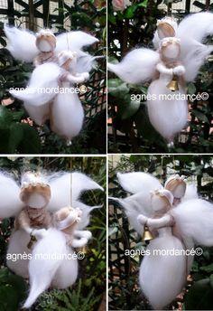 duo felted angels - agnès mordancé© s paris http://www.alittlemarket.com/boutique/agnes_mordance-466335.html