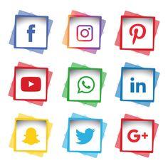 Social media icons set Vector and PNG Icon Design, Design Set, Flat Design, Web Design, Design Layouts, Adobe Illustrator, Instagram Logo, Facebook Instagram, Social Icons